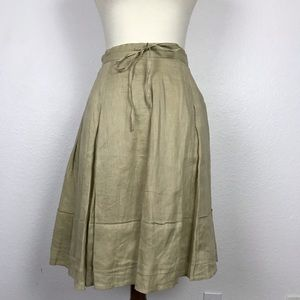 Banana Republic Linen Pleated Full Skirt